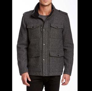 Kenneth Cole Herringbone Field Coat